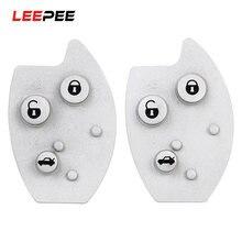 Leepee 3 botões almofada chave do carro de borracha botão almofada chave caso escudo para citroen xsara c5 substituição tapete chave do carro estilo