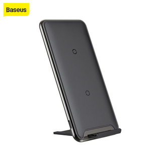 Image 1 - Baseus チー 10 ワット 3 コイルワイヤレス充電器は、高速充電器 iphone × 三星銀河 S9 携帯電話充電器電話