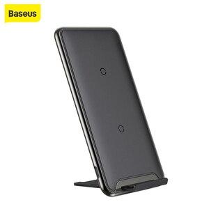 Image 1 - Беспроводное зарядное устройство Baseus Qi 10 Вт с 3 катушками, быстрое зарядное устройство для iPhone X, Samsung Galaxy S9, быстрое зарядное устройство, держатель для телефона