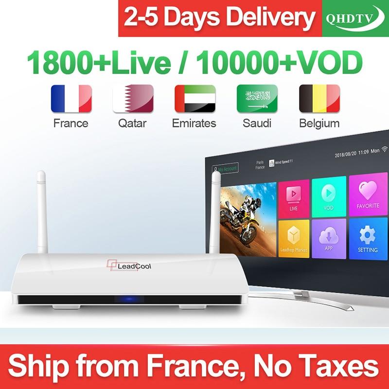 Leadcool IPTV France Android IPTV RK3229 Original Leadcool QHDTV 1 an IPTV belgique pays-bas allemagne France arabe IP TV