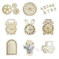 Accesorios de tablero de trabajo para niños, materiales artesanales, letras de números de madera con juguetes educativos decorativos, reloj de aprendizaje