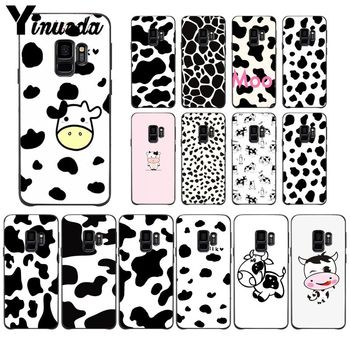Yinuoda White Black Cow spots Symbol Pattern Colorful Smart Cover Phone Case For GALAXY s5 s6 edge edge plus s7 s8 plus s9 plus image