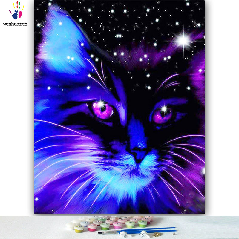 5d DIY Colorings Pictures By Numbers With Colors Colored Cats And Horses Picture Drawing Painting