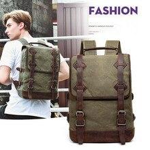 Korean version of leisure travel waterproof mad horseskin double shoulder bag man Business Baggage Computer Backpack Classic