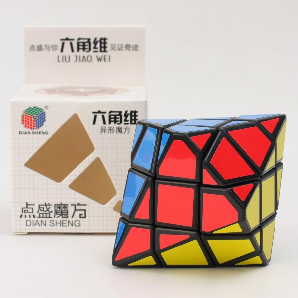 Diansheng 6-corner-only Pyramid  Cube Hexagonal Dipyramid 3x3x3 Magic Cube Toy Educational Puzzle Zcube