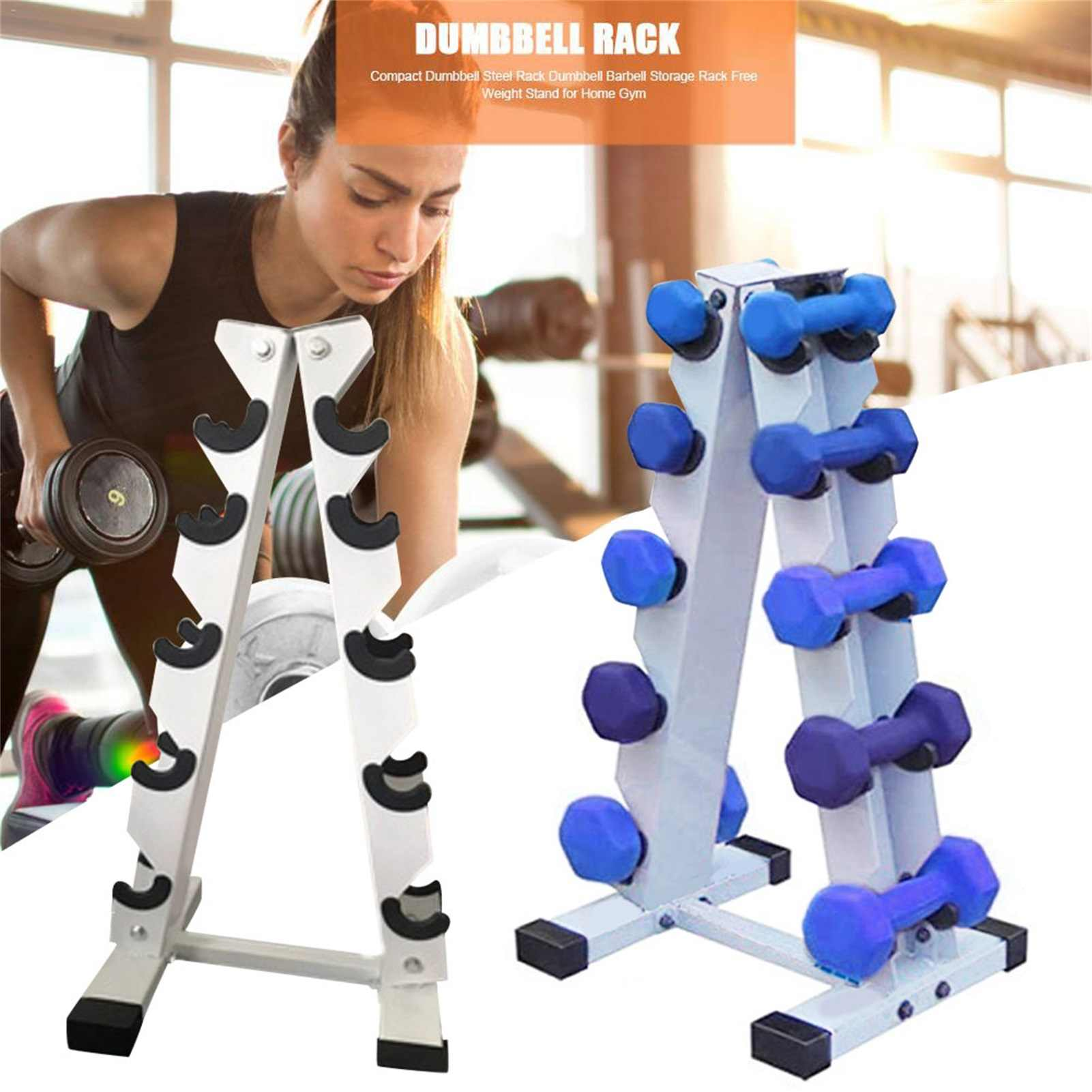 Compact Dumbbell Bracket Tree Dumbbell Holder for Home Gym Black ISENPENK Dumbbell Rack Free Weight Stand 3 Layer Exercise Weight Tower