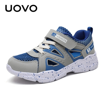 UOVO Kids Casual Shoes Boys And Girls Running Shoes 2020 Autumn Breathable Mesh Shoes Fashion Children Sport Shoes #28-39