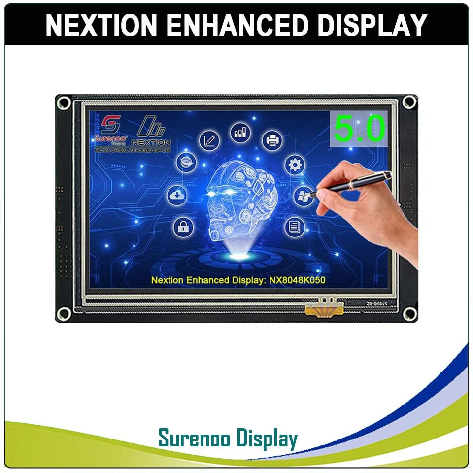 "5.0"" NX8048K050 Nextion Enhanced HMI USART UART Serial Resistive Touch TFT LCD Module Display Panel For Arduino Raspberry Pi"
