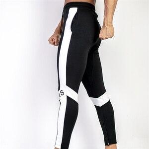 Image 4 - ใหม่ผู้ชาย Joggers กางเกง Casual กางเกงฟิตเนสชายกีฬากางเกงกางเกง Skinny Sweatpants กางเกงสีดำโรงยิม Jogger กางเกงเหงื่อ