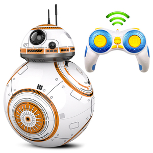 Fast delivery Upgrade Model RC BB-8 Droid Robot BB 8 Ball Intelligent Robot Kids Toys Gifts With Sound 2.4G Remote Control Robot(China)
