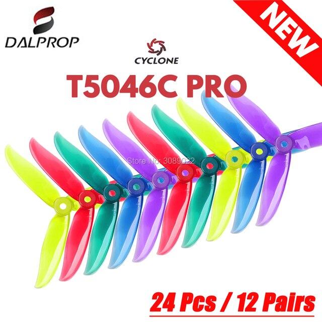 24 adet/12 çift DALPROP siklon T5046C PRO 5046 3 bıçak pervane için Motor motor FPV Freestyle Drone quadcopter sürüm Prop