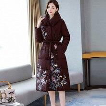 Thick Warm Winter Coat Women Slim Long Parkas Women Winter Jacket Plus Size Vint