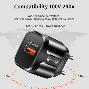 Image 4 - YKZ USB Charger,Mobile phone charger 18W QC3.0 Fast Charging EU US wall charger For iPhone Samsung Xiaomi Huawei Phone Adapter