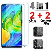 4in1 de vidrio Protector para Xiaomi Redmi Nota 9 Pro 9S 8 8T 9T Max Cámara Protector de pantalla para Redmi 9 9C NFC 9T 9A 9AT 8A de vidrio
