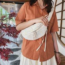 Women Mobile Phone Pouch Classic Texture Delicate Creative Design Chic Daisy Fanny Chest Pack Travel Canvas Waist Belt Purse(China)