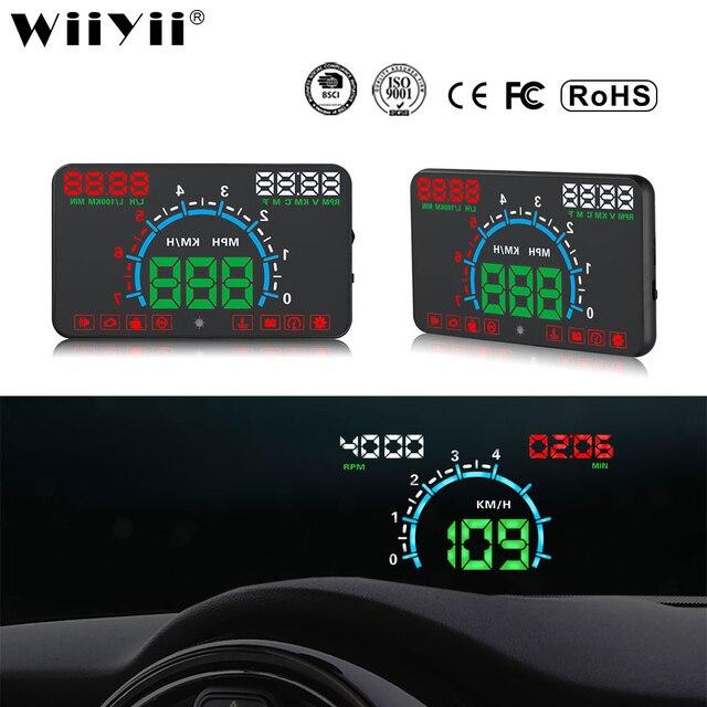 WiiYii HUD E350 자동차 헤드 업 디스플레이 자동 속도 알람 OBD2 윈드 스크린 프로젝터 자동차 전자 데이터 진단 도구