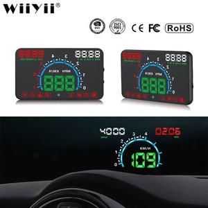 Image 1 - WiiYii HUD E350 car Head Up display Auto speed alarm OBD2 Windscreen Projector car electronics Data Diagnostic Tool