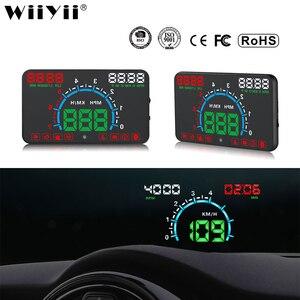Image 1 - Wiiyii hud e350 cabeça do carro up display alarme de velocidade automática obd2 windscreen projetor carro eletrônica dados ferramenta diagnóstico
