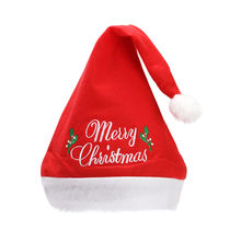 Christmas gift cosplay beanies baby girl clothes Winter christmas Non-woven Embroidery Pattern Christmas Women Hat chapéu(China)