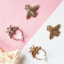 10pcs Lovely Bees Metal Charms Gold Alloy Insect Pendants Fit DIY Earrings Bracelets Finding Jewelry Accessory Handmade FX100