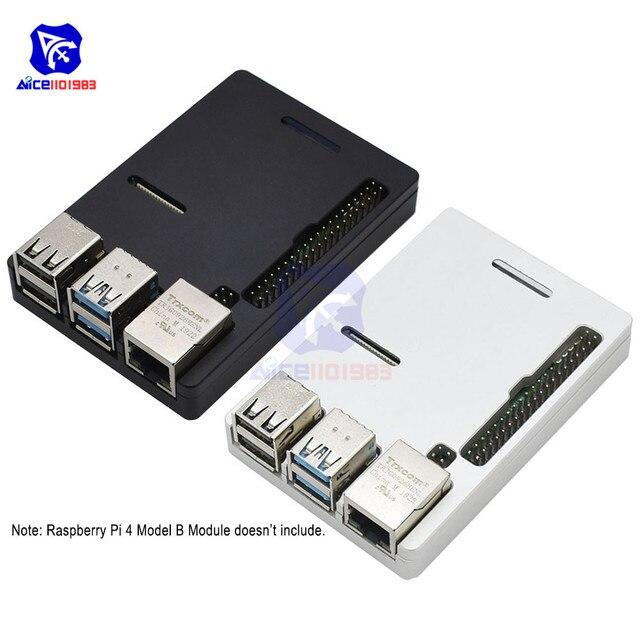 Raspberry Pi Model B Cnc Aluminium Case Ultra Dunne Metalen Doos Bescherming Case Voor Raspberry Pi 4 Model B Met Tool