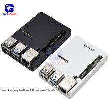 Raspberry Pi Modelo B CNC carcasa de aleación de aluminio ultrafina caja de Metal funda protectora para Raspberry Pi 4 Modelo B con herramienta