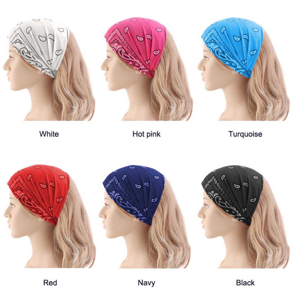 倫理自由奔放に生きる女性花柄綿ヘッドバンドヘアバンド多目的ターバン Headwrap 帽子の装飾品