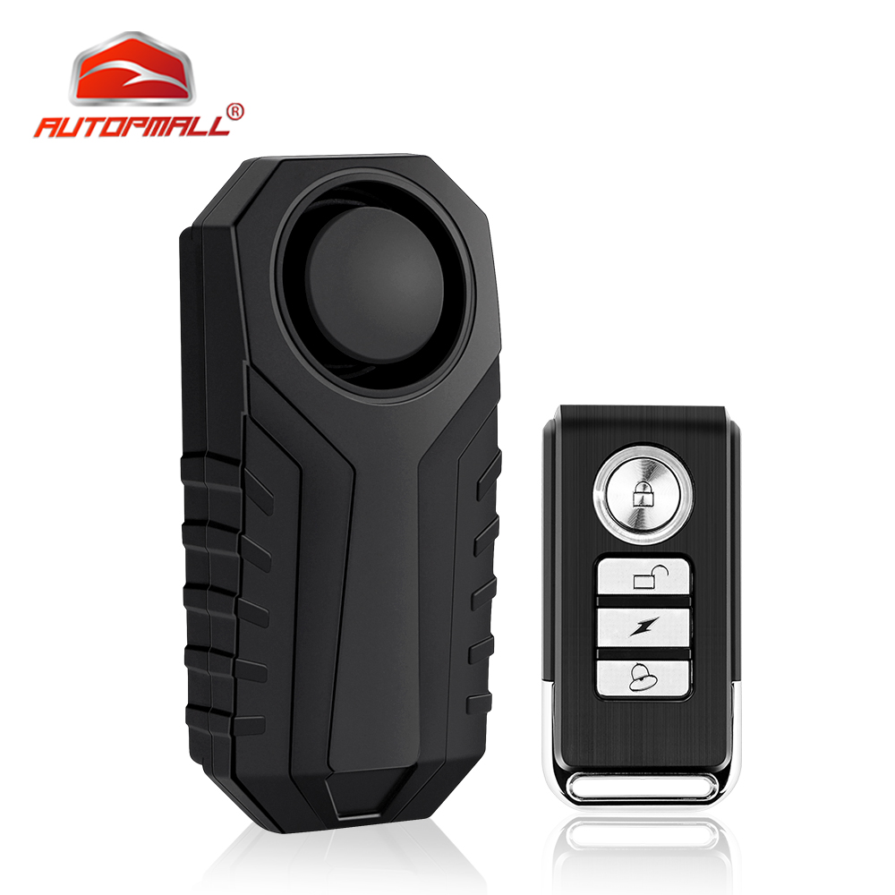 Bicycle Bike Wireless Alarm System Vehicle Remote Control Vibration Voice Alarm Bicycle Protection Anti-Lost SOS Security Alarm