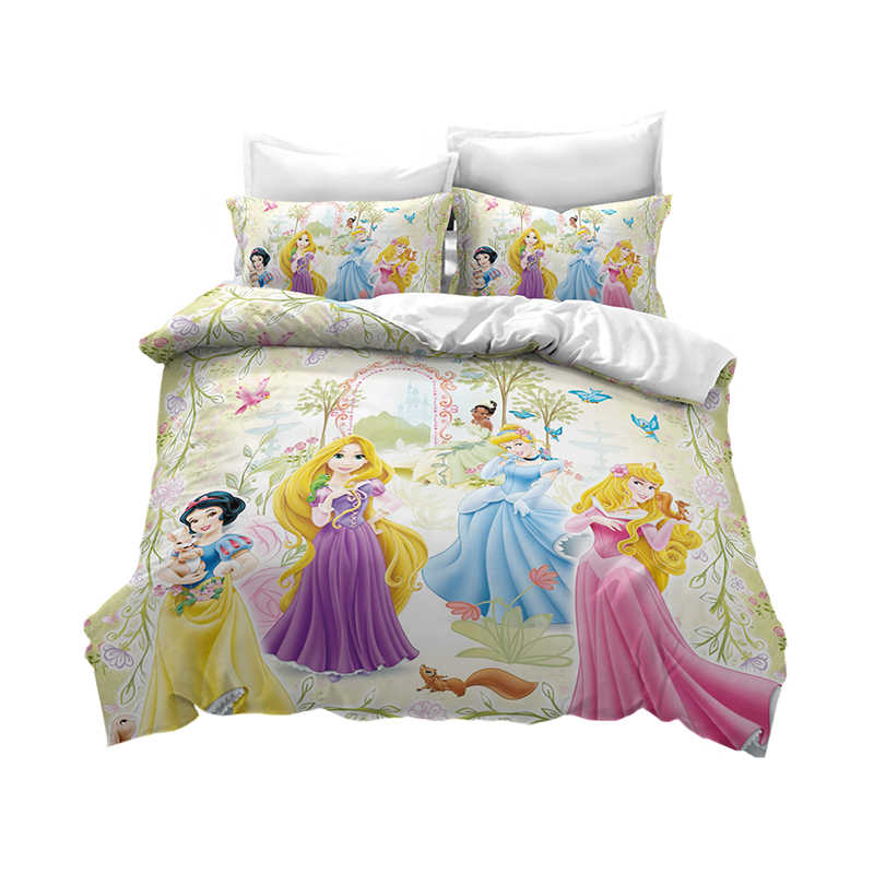 Pink Disney Princess Duvet Cover Set For Girls Bed Single Size Bedding Twin Coverlet Queen Bedroom Decor Kids Baby 3d Print King Bedding Sets Aliexpress