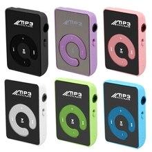 Mini Mirror Clip USB Digital Mp3 Music Player Support 8GB SD TF Card
