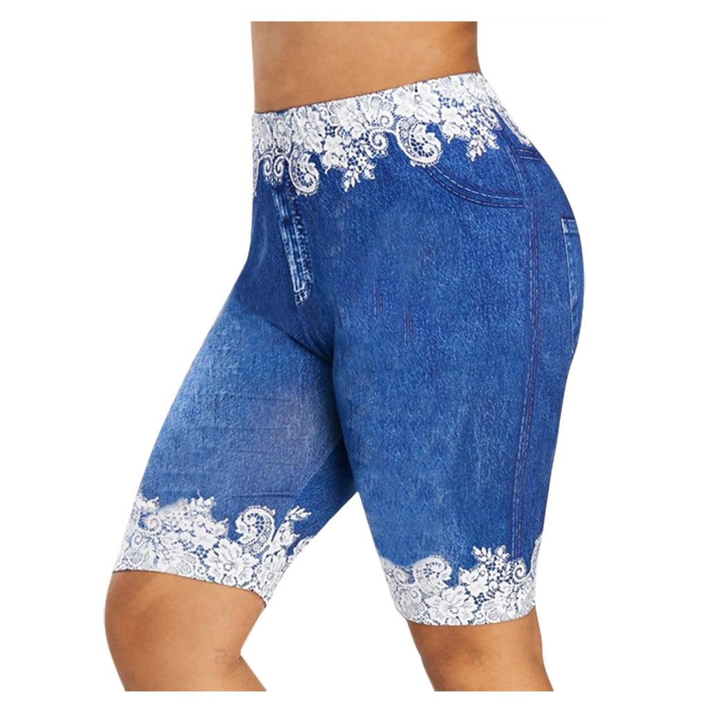 Women Basic Slip Bike Shorts Compression Workout Leggings Shorts Capris Leggings sports tights