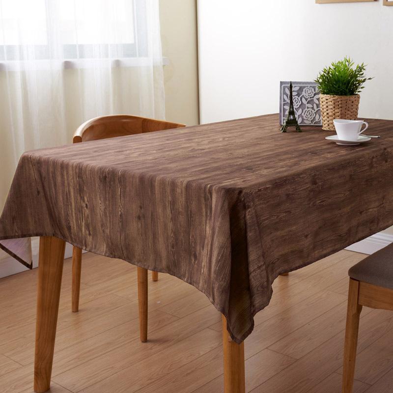 Big Discount #89548 - Brown Wood Pattern Waterproof Table ...
