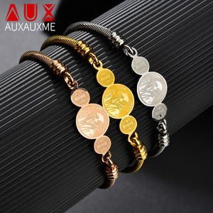 Auxauxme Bracelet Jewelry Stainless-Steel Benito Gold-Color Religious for Women Wholesale