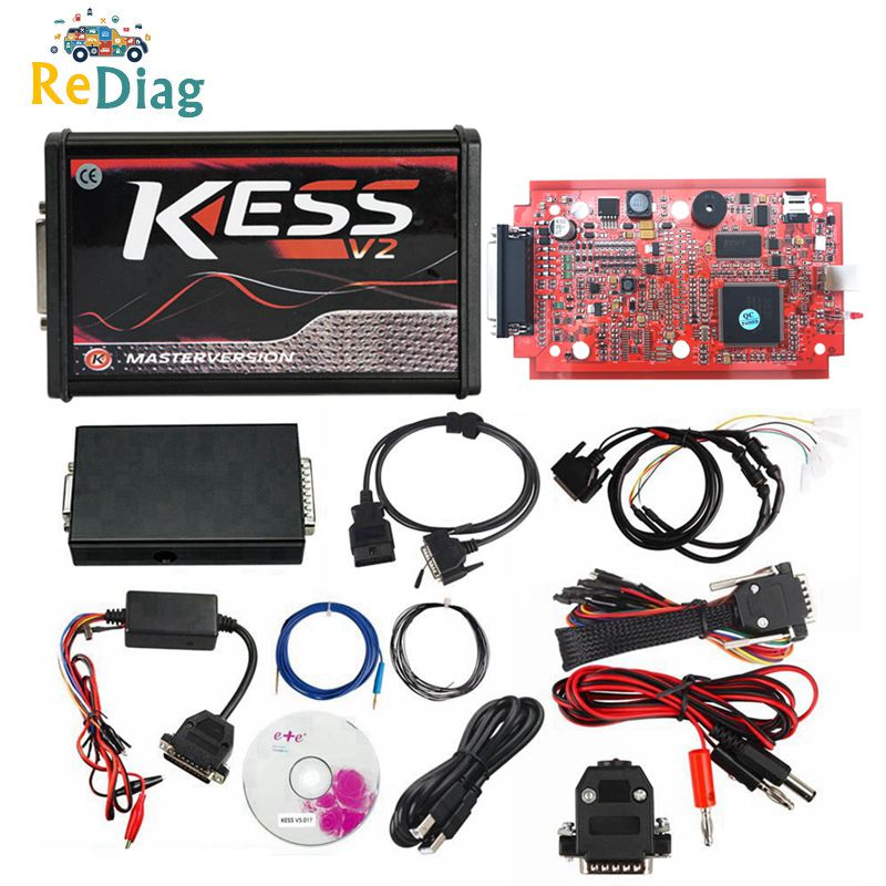 EXELLENT KESS V2 5,017 Volle ECU OBD2 Manager Tuning Kit Auto Lkw Programmierer Red PCB Europäische Version V 5,017 K -Suite V 2,53 ECU