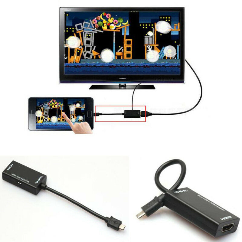 Mini <font><b>Micro</b></font> <font><b>USB</b></font> <font><b>2.0</b></font> MHL To HDMI 1080P TV Adapter Cable For Samsung Galaxy Android HTC Sony HDTV image