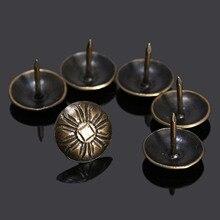 100 шт 16 мм мебельные гвозди таки шпильки винтажная декоративная мебель гвоздь-кнопка дверной гвоздь антикварная бронза