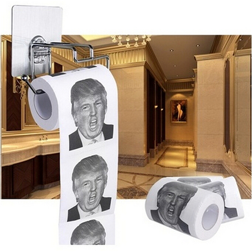 Donald Trump Humour Toilet Paper Roll Novelty Funny Gag Gift Dump With Trump