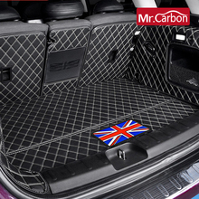 Car Trunk Leather Protective Mat Decoration Accessories For BMW MINI ONE Cooper S JCW F54 F55 F56 F60 R60 CLUBMAN car styling