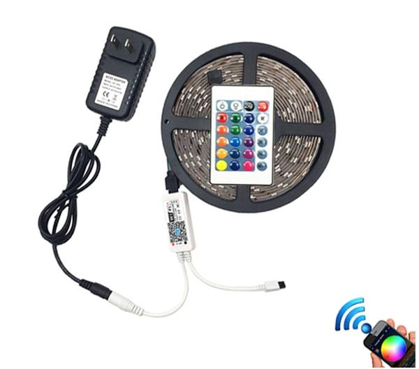 H301ec6155eaa4d8086a4e8898b5b0c41l 5m 10m Waterproof LED RGBW RGBWW RGB strip light SMD 5050 Light Remote control Power Adapter RGB Fita Ribbon Lamp led strip set