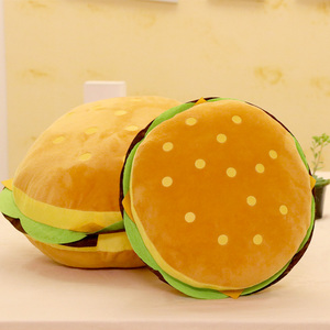 Image 3 - Peluş oyuncaklar hamburger şekli yastık yaratıcı komik peluş oyuncak bebek yastık çocuk hediye gerçekçi hamburger doldurulmuş oyuncaklar