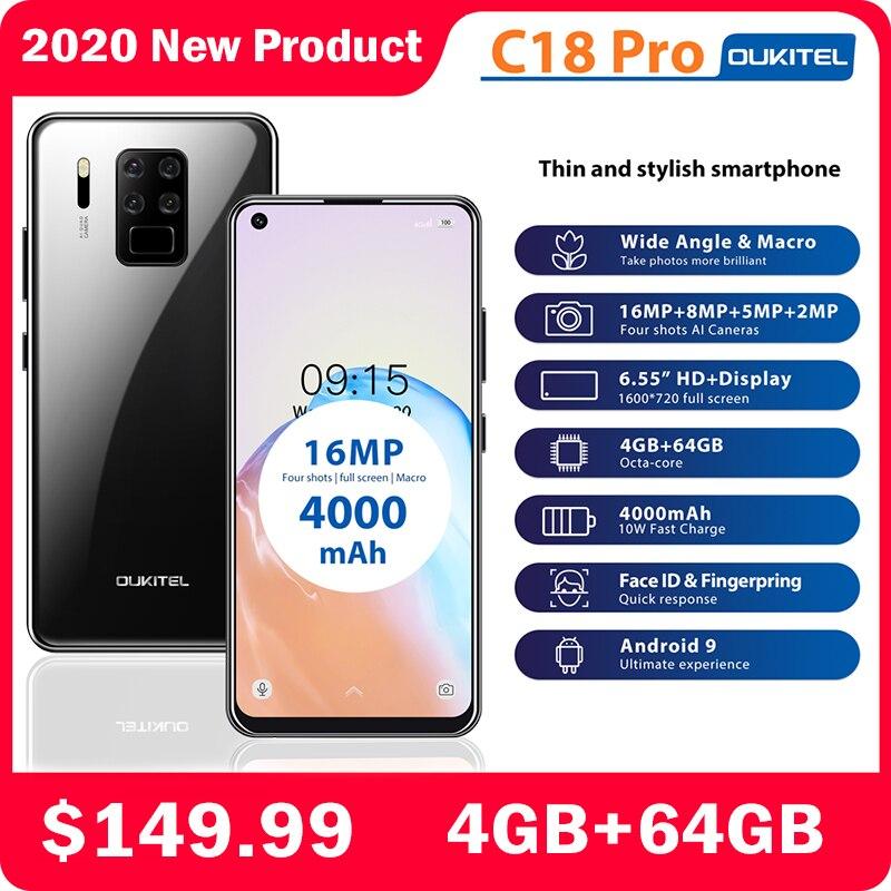 OUKITEL C18 Pro Full Экран смартфон 6,55