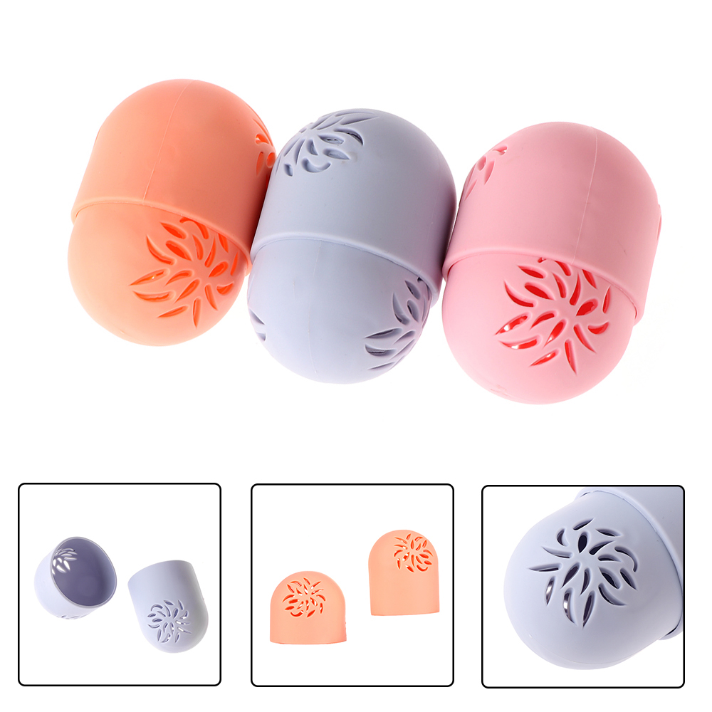 Soft Silicone Powder Puff Drying Holder Egg Stand Beauty Pad Makeup Sponge Display Rack Cosmetic Sponge Case Puff Holder