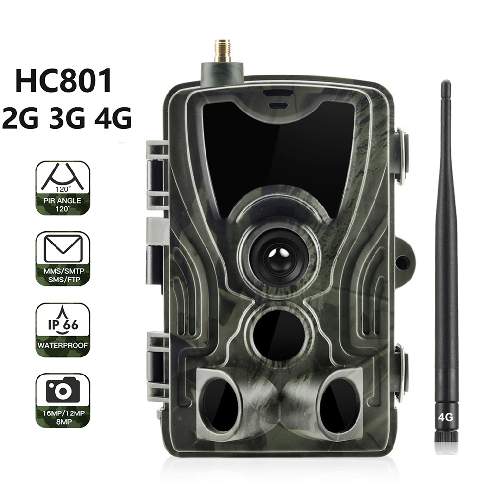 HC801 2G 3G 4G MMS/SMS/Email Hunting Camera 16MP 1080P Night Vision Trail Camera 0.3s Trigger Wireless Surveillance Scout Camera|Hunting Cameras| |  - title=