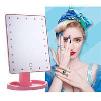 Professional LED Touch Screen Makeup Mirror Luxury Mirror with 16/22 LED Lights 180 Degree Adjustable Table Make Up Mirror