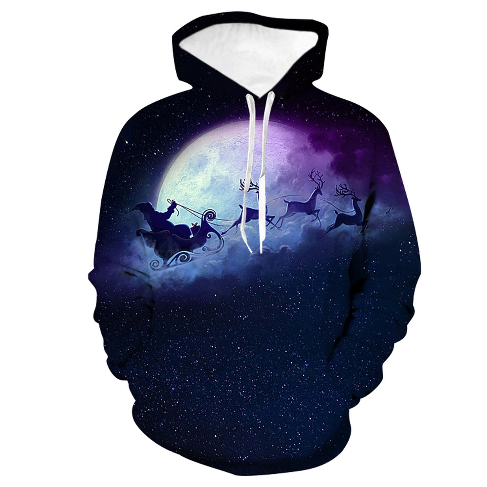 LISCN 2019 Christmas New Autumn and Winter Hoodie 3D Print Snowman Pullover Couple