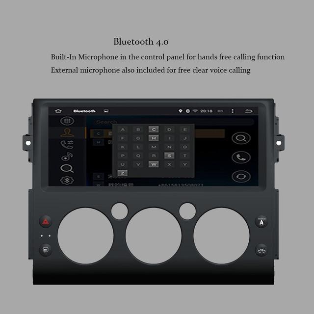 Rádio estereofônico do jogador de gps do carro da ram do núcleo 4 gb de android 9.0 octa para toyota fj cruiser 2006-2019 wifi do rádio do carro da navegação de gps