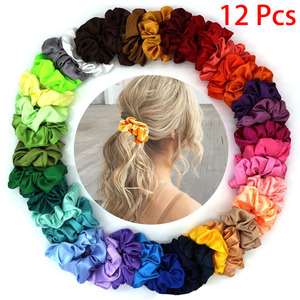 6/10/12/20/30/50Pcs Fashion Women Silk Solid Scrunchies Elastic Hairbands Girls Hair Tie Hair Rope Hair Accessories