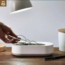 جهاز تنظيف بالموجات فوق الصوتية من Youpin جهاز تنظيف استريو 360 درجة اهتزاز عالي التردد 45000 هرتز لتنظيف النظارات