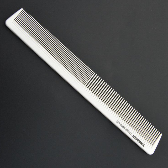 1pc White Antistatic Hair Comb Taper Cutting Comb Hair Brush Hairdressing Hair Styling Tool Barber Tools Hair Salon Accessories