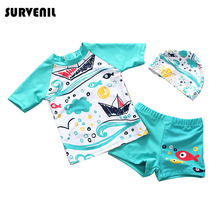 Baby Boy Swimwear Two Pieces Swimsuits for Boys Childrens Rash Guards Kids Bathing Suit Swimming Suits Shark Print